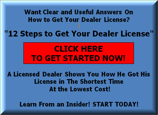 Can I Sell Cars Without A Dealer License